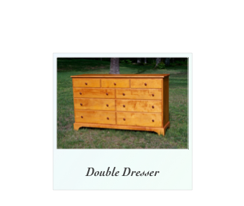 Shaker Double Dresser, traditional double chest, handmade double chest, colonial double chest