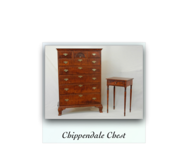 Chippendale Chest of drawers with fan carving
