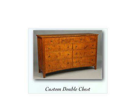 Chippendale Chest, Queen Anne Chest, Tiger Maple Chest, Reproduction 18th century Chest, Colonial Chest made by Matthew A.Wolfe