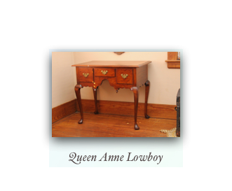 Queen Anne Lowboy Massachucetts Handmade Lowboy Antique Reproduction Fine Furniture