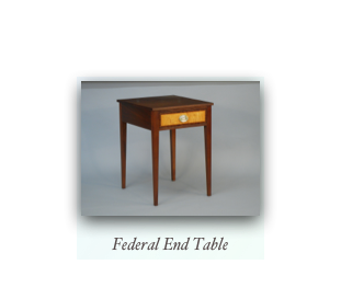 Federal End Table Federal Nightstand Hepplewhite Furniture Makers Handmade Custom Furniture