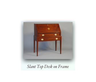 Slant Top Desk on Frame Hepplewhite Slant Top Desk Queen Anne Slant Top Desk