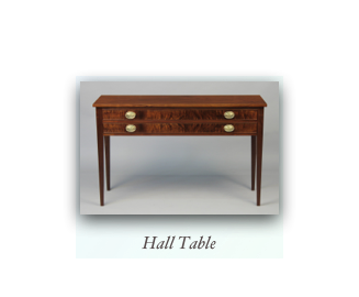 Hall Table Walnut 2 Drawer Hall Table