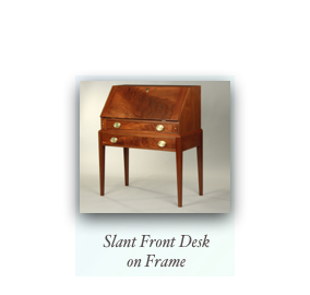 Walnut Slant Front Desk on Frame