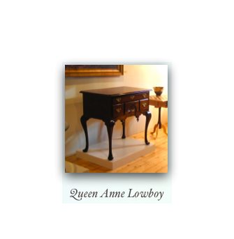 Queen Anne Reproduction Lowboy dressing table
