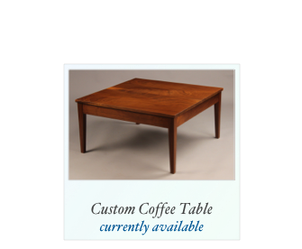 Custom Walnut Coffee Table for sale