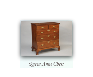 Queen Anne Chest Reproduction Chest 18th Century Early American Furniture
