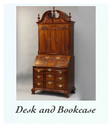 Reproduction Newport Secretary Desk and Bookcase