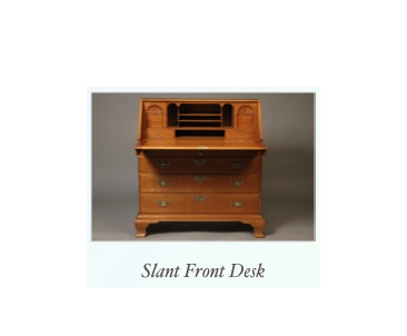 Slant Front Desk Fine Desk Makers NY Maine, Mass, NH, RI, Conn, PA,