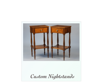 Tiger maple birdseye maple nightstands