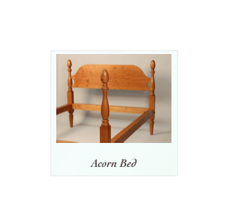 Acorn Bed made of solid cherry