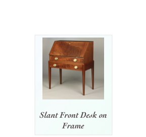 Walnut and Crotch walnut slant front desk