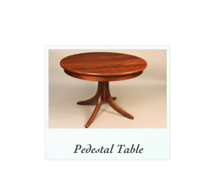 Custom Pedestal Table handmade of solid walnut
