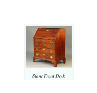Massachusetts Slant Front Desk in solid mahogany
