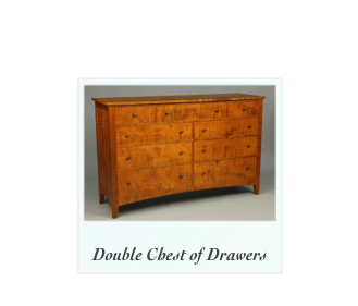 Custom Double Chest of Drawers Tiger Curly Maple