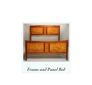 Frame and Panel Bed made of solid cherry and tiger maple