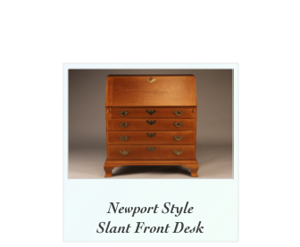 Slant Front Desk in solid Cherry Newport Rhode Island NH Maine Mass NY