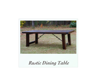 Rustic Walnut Dining Table with turnbuckles