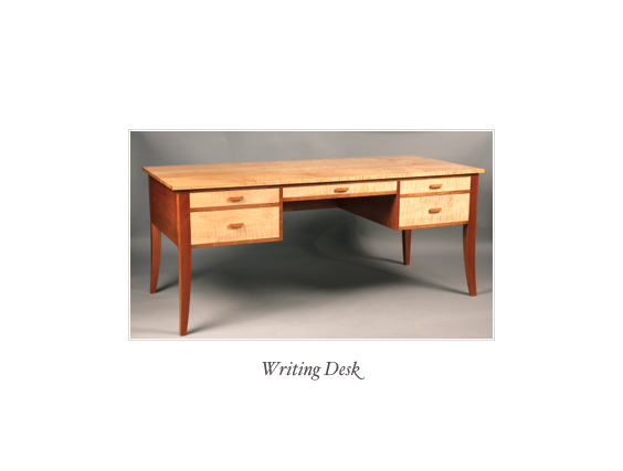 Walnut Slant Front Desk