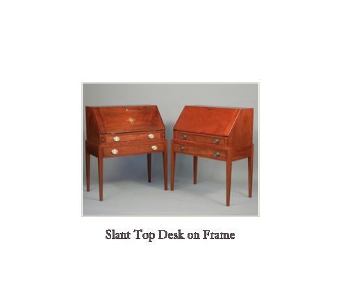 Desk fine custom desk maker museum quality reproduction for New england style desk