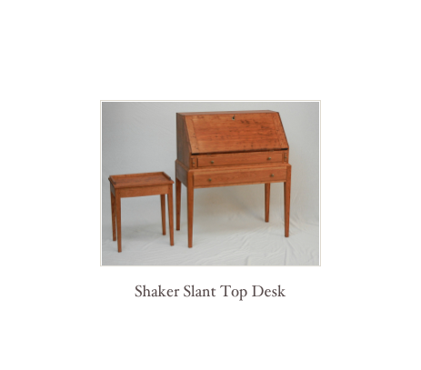 Shaker Slant Top Desk, reproduction desk maker, New England Desk makers
