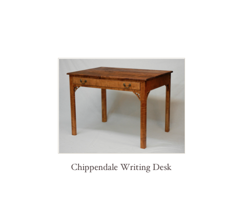 Chippendale Writing Desk, Reproduction Desks, Colonial Desks, NH