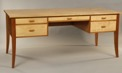 Custom Writing desk curly maple cherry