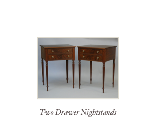 Bow Front Nightstand, hepplewhite end table, happlewhite nightstand, Mahogany furniture makers