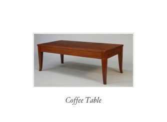 Shaker Style writing desk, hall table or end table, made of solid Walnut, Cherry, mahogany or tiger maple