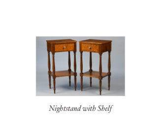 Custom Federal ENd Table handmade 18th century furniture and 19th century furniture