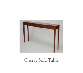 Shaker Cherry End Table, custom cherry furniture, shaker furniture makers, New England