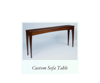 Handmade Sofa Table made of mahogany