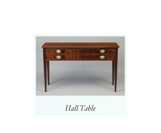 Handmade Hall Table Crotch Walnut
