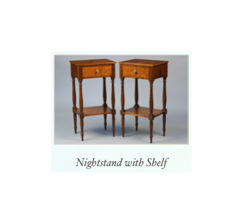 Handmade Tiger Maple Nightstands