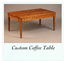Handmade Coffee Table Walnut and Figured Walnut