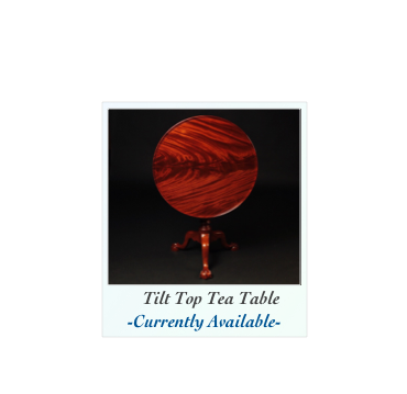 Tea Table with ball and claw feet