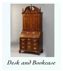 Mahogany Secretary Desk and Bookcase