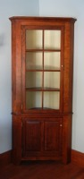 Corner Cupboard, reproduction Corner Cupboard, Colonial Corner Cupboard in solid cherry
