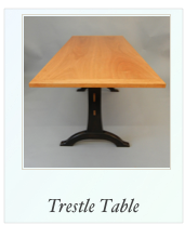 Custom Cherry Trestle Table
