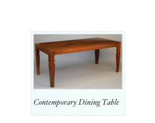 Contemporary Dining Table made of solid walnut
