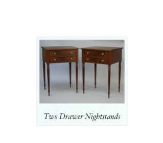 Two Drawer Sheraton Nightstands