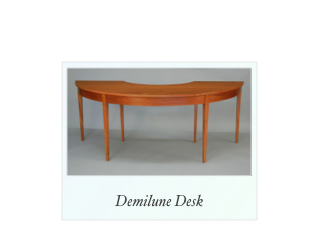 Demilune Desk made of solid mahogany