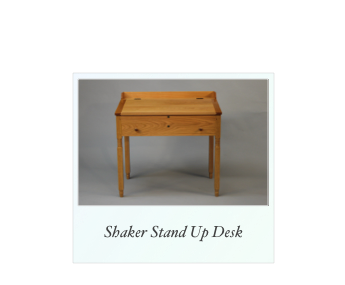 Shaker style stand up desk