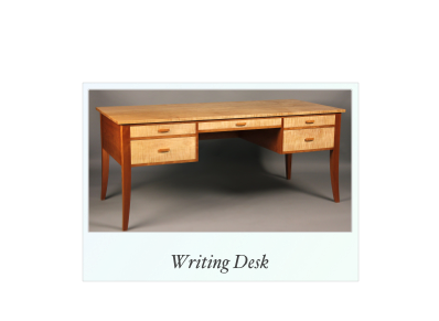 Custom Writing Desk made of cherry and tiger maple