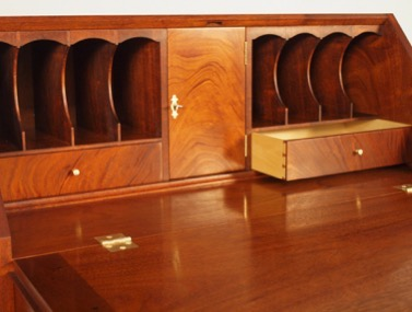 Slant Top Desk Hepplewhite Federal Queen Anne Style Desk