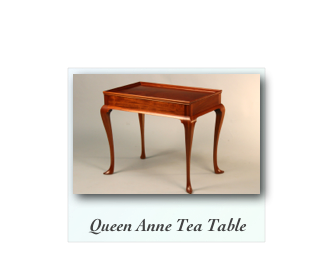 QUeen Anne Tea table made of solid cherry