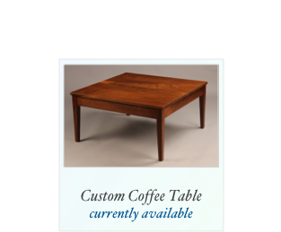 Trestle Table Handmade tiger maple table