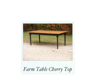 Farm Table with Cherry Top