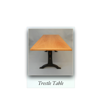 Trestle Table handmade of cherry and maple