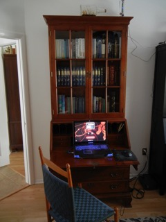 Client Photo Desk and Bookcase